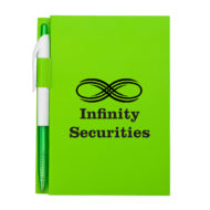 Notebook with Pen-Lime Green Custom Logo