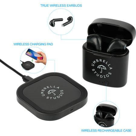 Oros Auto Pair Earbuds & Wireless Charging Pad Custom Logo