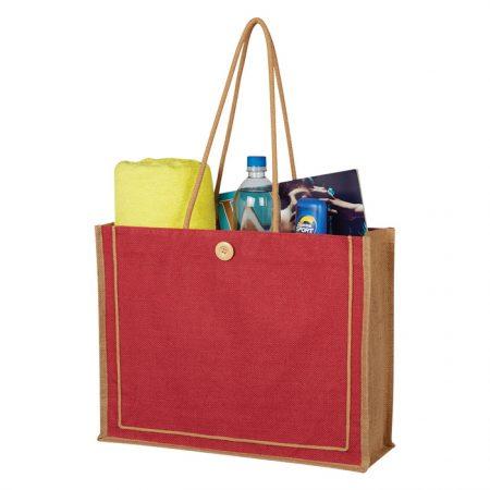 Promotional Custom Logo Paradise Jute Tote Bag