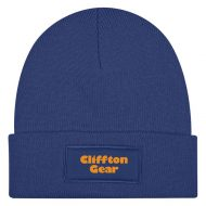 Promotional Custom Logo Patch Knit Beanie With Cuff Hat