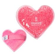 Promotional Custom Logo Plush Heart Hot/Cold Pack Aqua Pearls