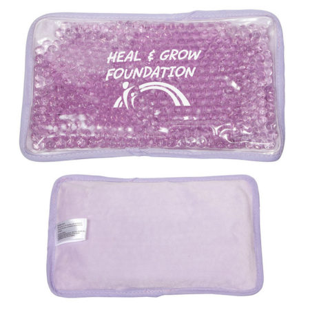 Promotional Custom Logo Plush Large Rectangle Hot/Cold Pack Aqua Pearls