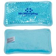 Promotional Custom Logo Plush Mini Rectangle Hot/Cold Pack Aqua Pearls