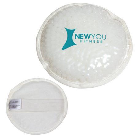 Promotional Custom Logo Plush Round Hot/Cold Pack Aqua Pearls