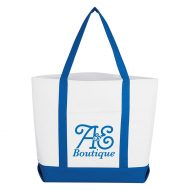 Custom Logo Imprinted Pocket Shopper Tote Bag