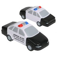 Custom Police Car Stress Reliever with Logo Imprint