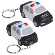 Custom Police Car Stress Ball Key Chain with Logo