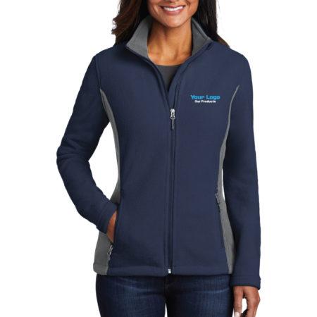 Custom Embroidery Port Authority Colorblock Value Fleece Ladies Jacket with Logo
