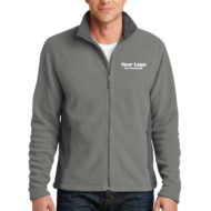 Custom Embroidery Port Authority Colorblock Value Fleece Mens Jacket with Logo