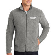 Custom Logo Embroidery Port Authority Ladies Heather Microfleece Full-Zip Mens Jacket