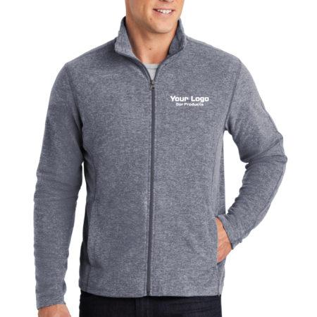 Custom Logo Embroidery Port Authority Ladies Heather Microfleece Full-Zip Mens Jacket