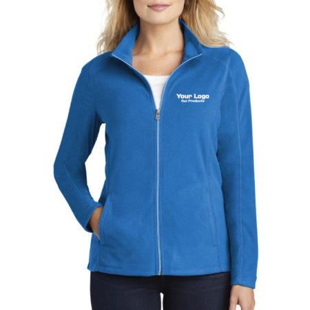 Custom Logo Embroidery Port Authority Ladies Microfleece Jacket