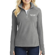 Custom Logo Port Authority Microfleece Half-Zip Ladies Pullover Embroidery
