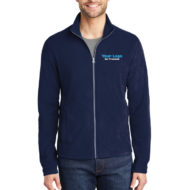 Custom Logo Embroidery Port Authority Mens Microfleece Jacket