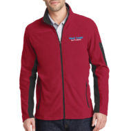 Custom Logo Port Authority Summit Fleece Full-Zip Mens Jacket Embroidery