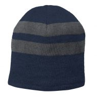 Promotional Custom Logo Port & Company® Fleece-Lined Striped Beanie Hat