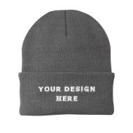 Custom Embroidery Port & Company® Knit Beanie Hat