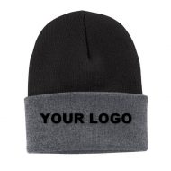 Promotional Custom Logo Port & Company® Knit Beanie Hat - Embroidery
