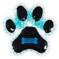 Promotional Custom Logo Puppy Paw Hot & Cold Pack Aqua Pearls