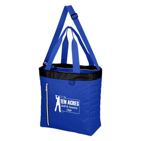 Custom Logo Promotional Quilted Slim Line Cooler Tote Bag