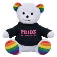 Promotional Custom Logo Rainbow Stuffed Plush Bear 6inch