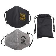 Custom Logo Refresh Microfiber Cooling Face Mask with Travel Pouch