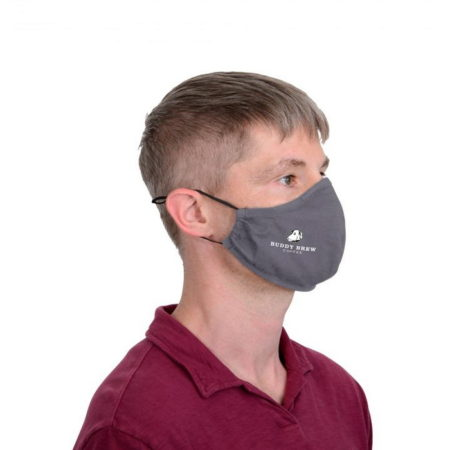 Promotional Custom Logo Reusable 2-Layer Face Mask
