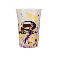 Promotional Custom Logo Reusable Confetti Stadium Cup 17oz