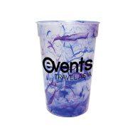 Custom Reusable Confetti Stadium Cup - Blue/Purple