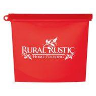 Promotional Custom Logo Reusable Food Bag With Plastic Slider