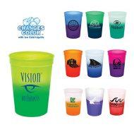 Promotional Custom Logo Reusable Mood Color Changing Stadium Cup 12oz