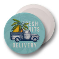 Round Absorbent Car Coaster with Logo