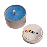 Promotional Products - Custom Imprinted Candles - Logo Candles - Private Label Branded Candles - Round Tin Candle 4oz
