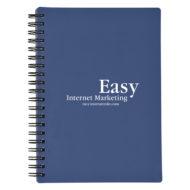 Rubberized Cover Spiral Notebook-Blue Custom Logo