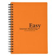 Rubberized Cover Spiral Notebook-Orange Custom Logo