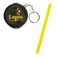 Promotional Custom Logo Silicone Straw In Travel Case