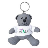 Promotional Custom Logo Silver Stuffed Plush Mini Reflective Bear Key Chain