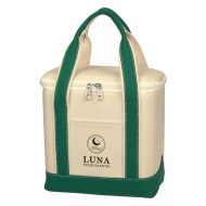 Custom Logo Promotional Small Cotton Canvas Lunch Cooler Bag