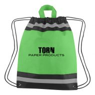 Custom Logo Promotional Small Non-Woven Reflective Sports Drawstring Bag
