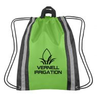 Custom Logo Promotional Small Reflective Sports Drawstring Bag