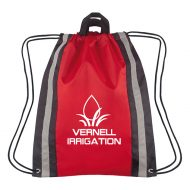 Custom Logo Promotional Small Reflective Sports Drawstring Bag