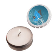 Promotional Products - Custom Imprinted Candles - Logo Candles - Private Label Branded Candles - Snap Top Tin Candle
