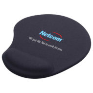 Solid Jersey Gel Mouse Pad with Wrist Rest-Black Custom Logo