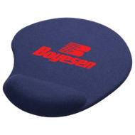 Solid Jersey Gel Mouse Pad with Wrist Rest-Blue Custom Logo