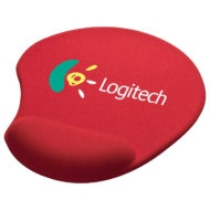 Solid Jersey Gel Mouse Pad with Wrist Rest-Red Custom Logo