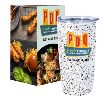 Promotional Custom Logo Speckled Himalayan Tumbler With Custom Box