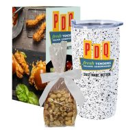 Promotional Custom Logo Speckled Himalayan Tumbler With Stuffer And Custom Box