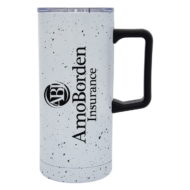 Promotional Custom Logo Speckled Stainless Steel Travel Tumbler 17oz