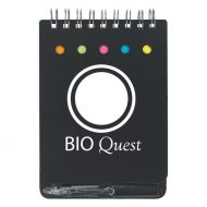 Promotional Custom Logo Spiral Jotter With Sticky Notes, Flags & Pen