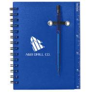 Spiral Notebook with Pen-Blue Custom Logo